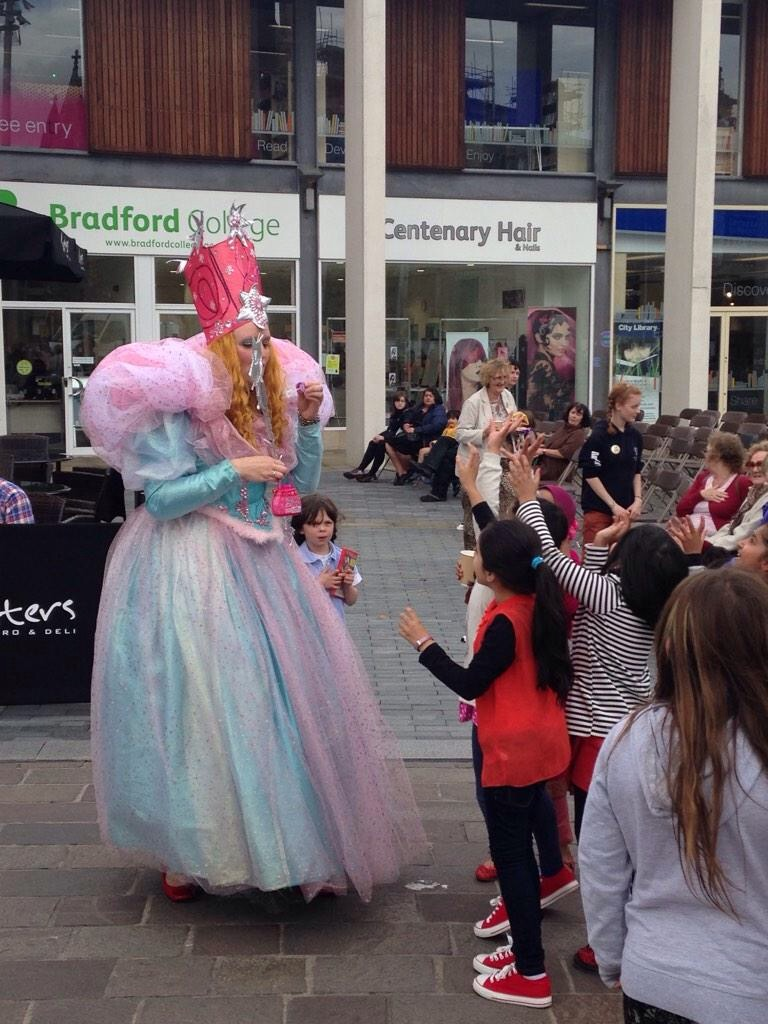 Glinda granting wishes in Bradford